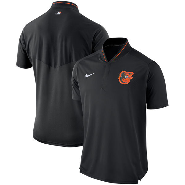 Men's Baltimore Orioles Black Authentic Collection Elite Performance Polo