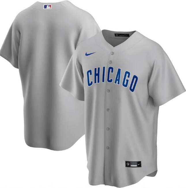 Men's Chicago Cubs Grey Cool Base Stitched MLB Jersey