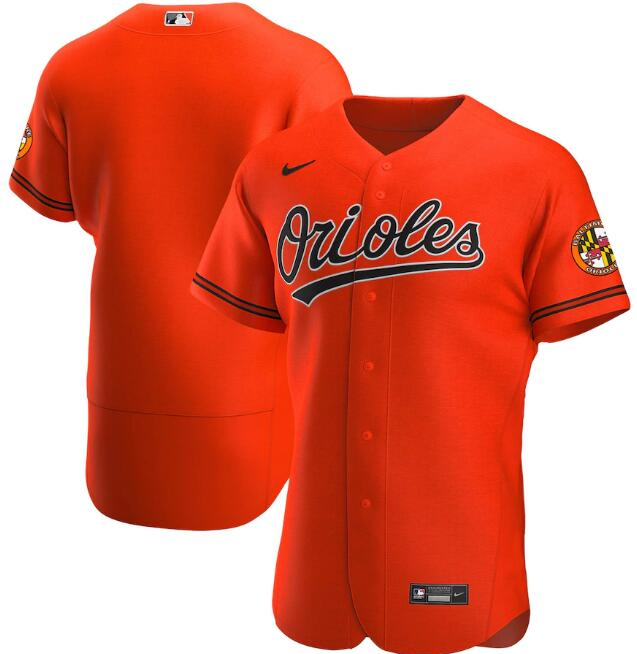 Men's Baltimore Orioles Orange Flex Base Stitched MLB Jersey