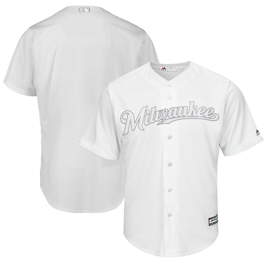 Men's Milwaukee Brewers Majestic White 2019 Players' Weekend Stitched MLB Jersey