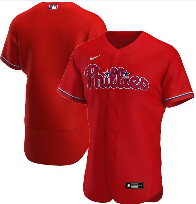 Men's Philadelphia Phillies Red Flex Base Stitched MLB Jersey