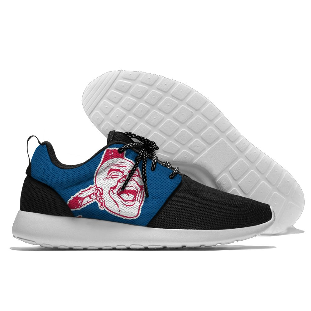 Women's Atlanta Braves Roshe Style Lightweight Running MLB Shoes 004