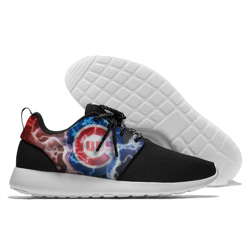 Women's Chicago Cubs Roshe Style Lightweight Running MLB Shoes 004