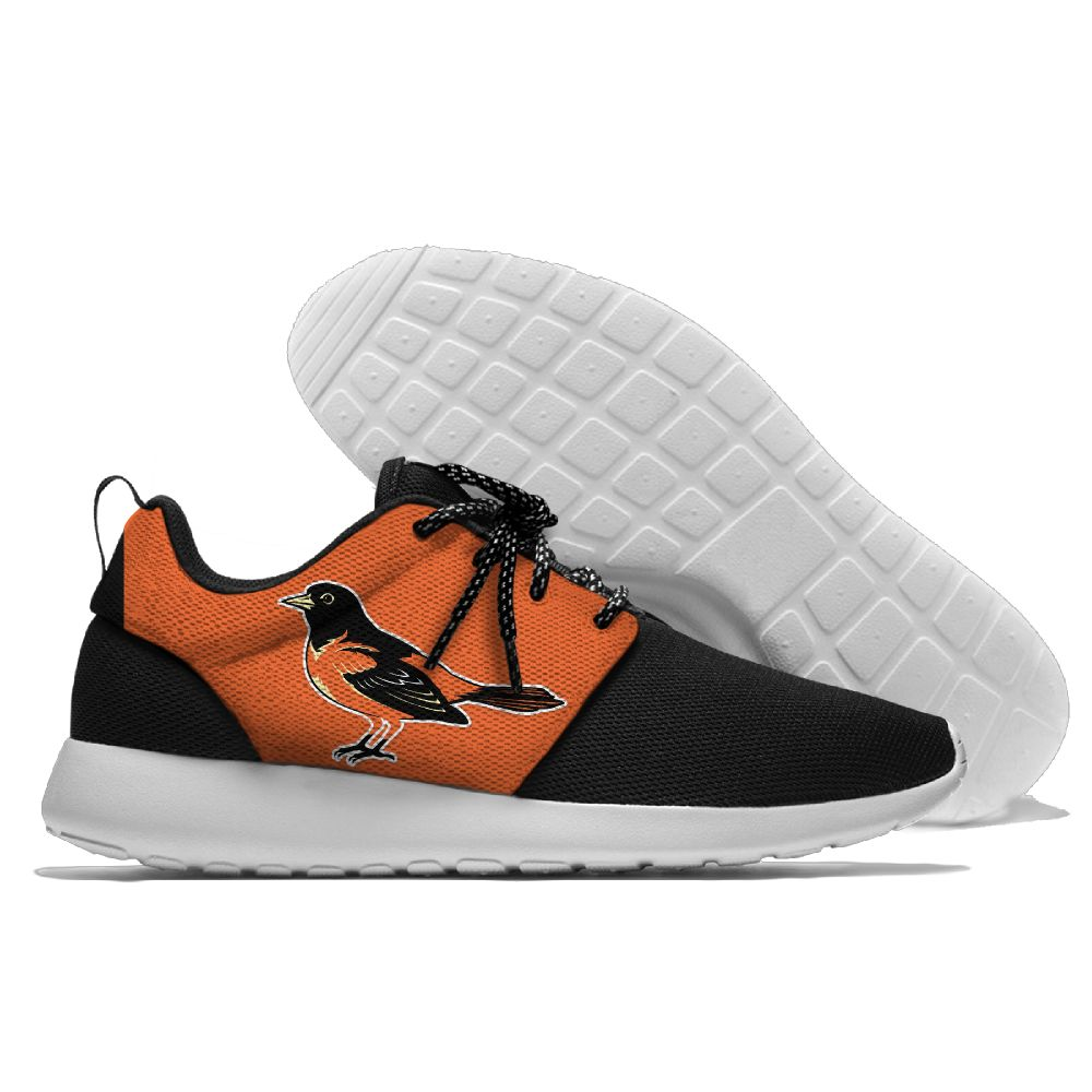 Women's Baltimore Orioles Roshe Style Lightweight Running MLB Shoes 004