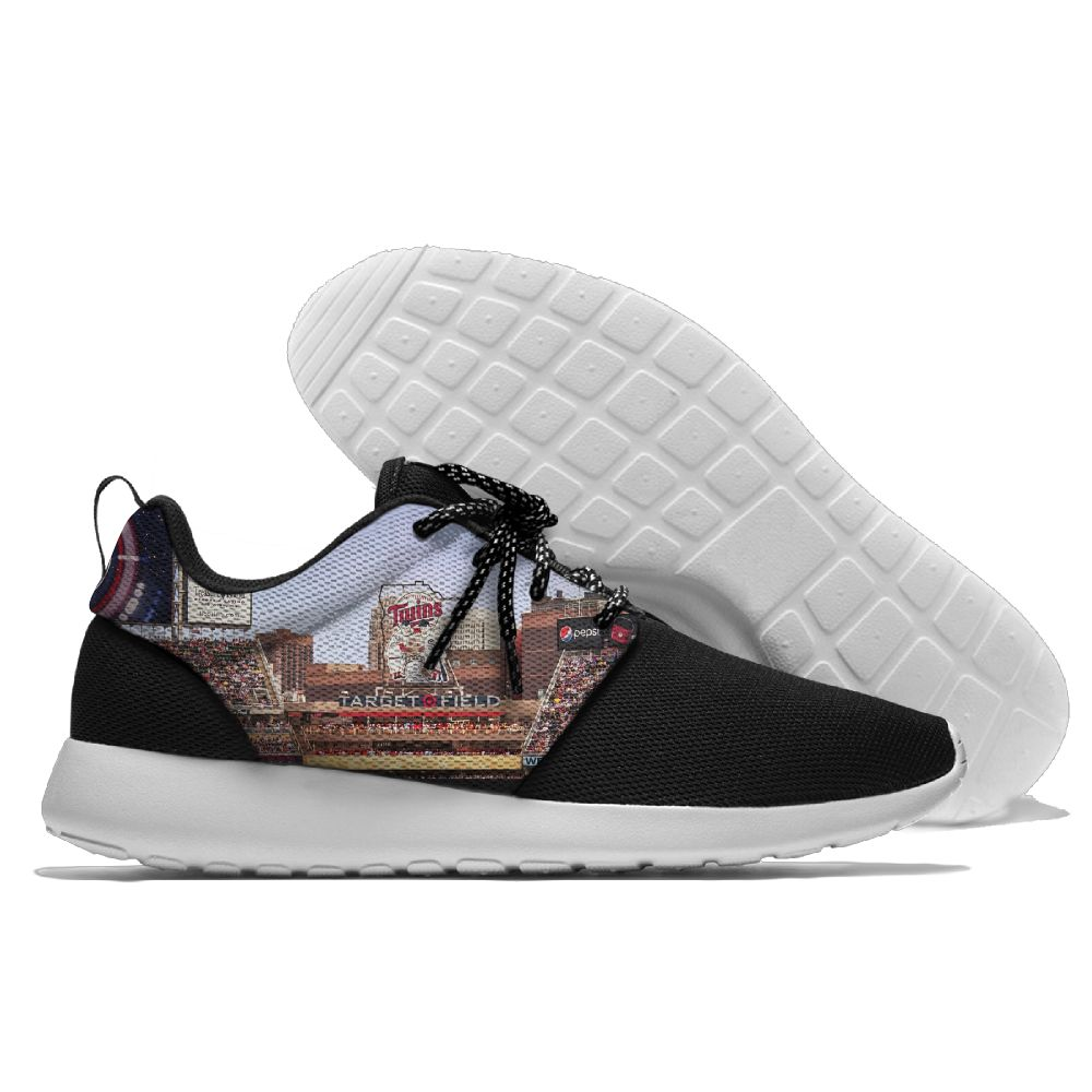 Women's Minnesota Twins Roshe Style Lightweight Running MLB Shoes 004