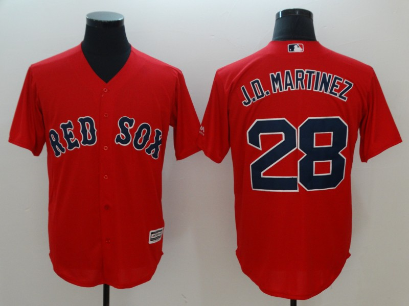 Men's Boston Red Sox #28 J.D. Martinez Red Cool Base Stitched MLB Jersey