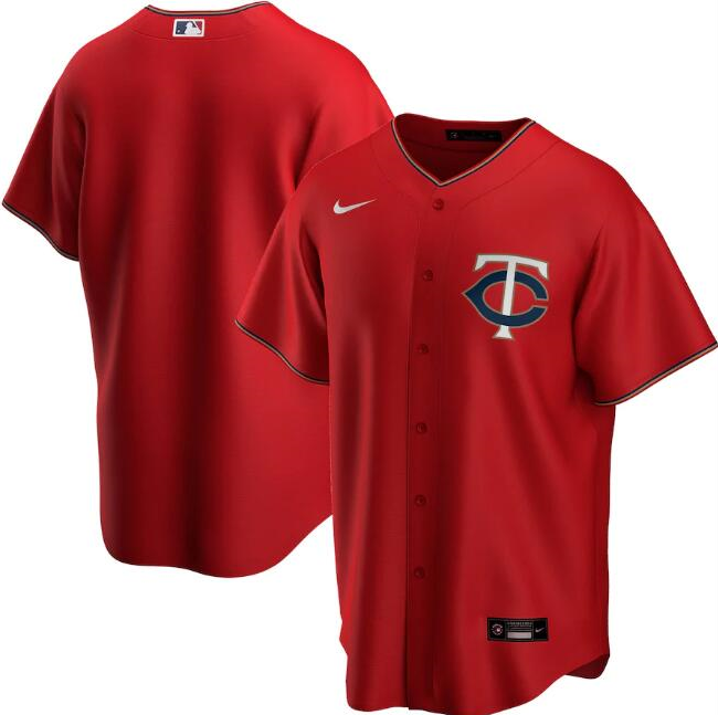Men's Minnesota Twins Red Cool Base Stitched MLB Jersey