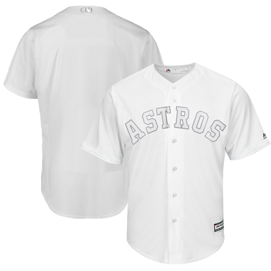 Men's Houston Astros Majestic White 2019 Players' Weekend Replica Team Stitched MLB Jersey