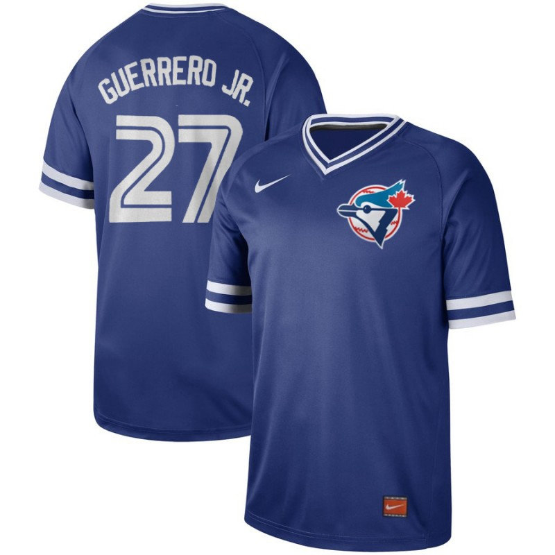 Men's Toronto Blue Jays #27 Vladimir Guerrero Jr. Royal Cooperstown Collection Legend Stitched MLB Jersey