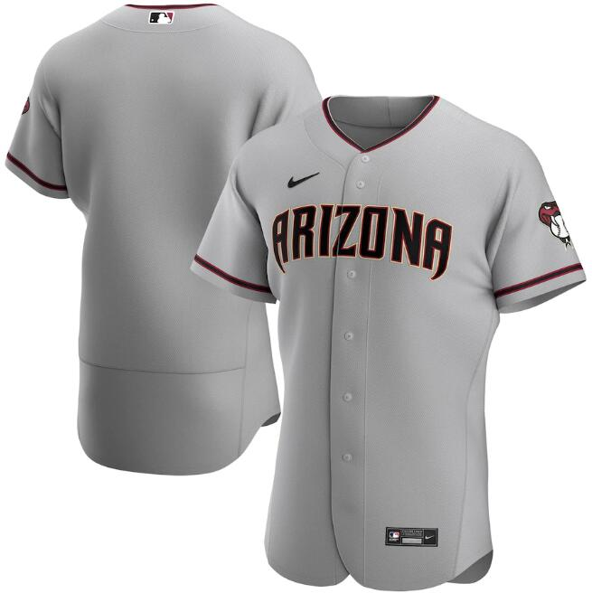 Men's Arizona Diamondbacks Blank 2020 Grey Flex Base Stitched MLB Jersey