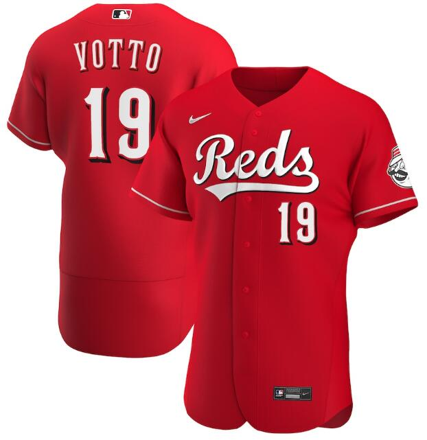 Men's Cincinnati Reds Red #19 Joey Votto Flex Base Stitched MLB Jersey
