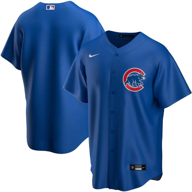 Men's Chicago Cubs Blue Cool Base Stitched MLB Jersey