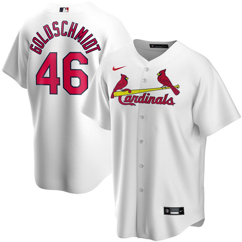 Men's St. Louis Cardinals #46 Paul Goldschmidt White 2020 Stitched MLB Jersey