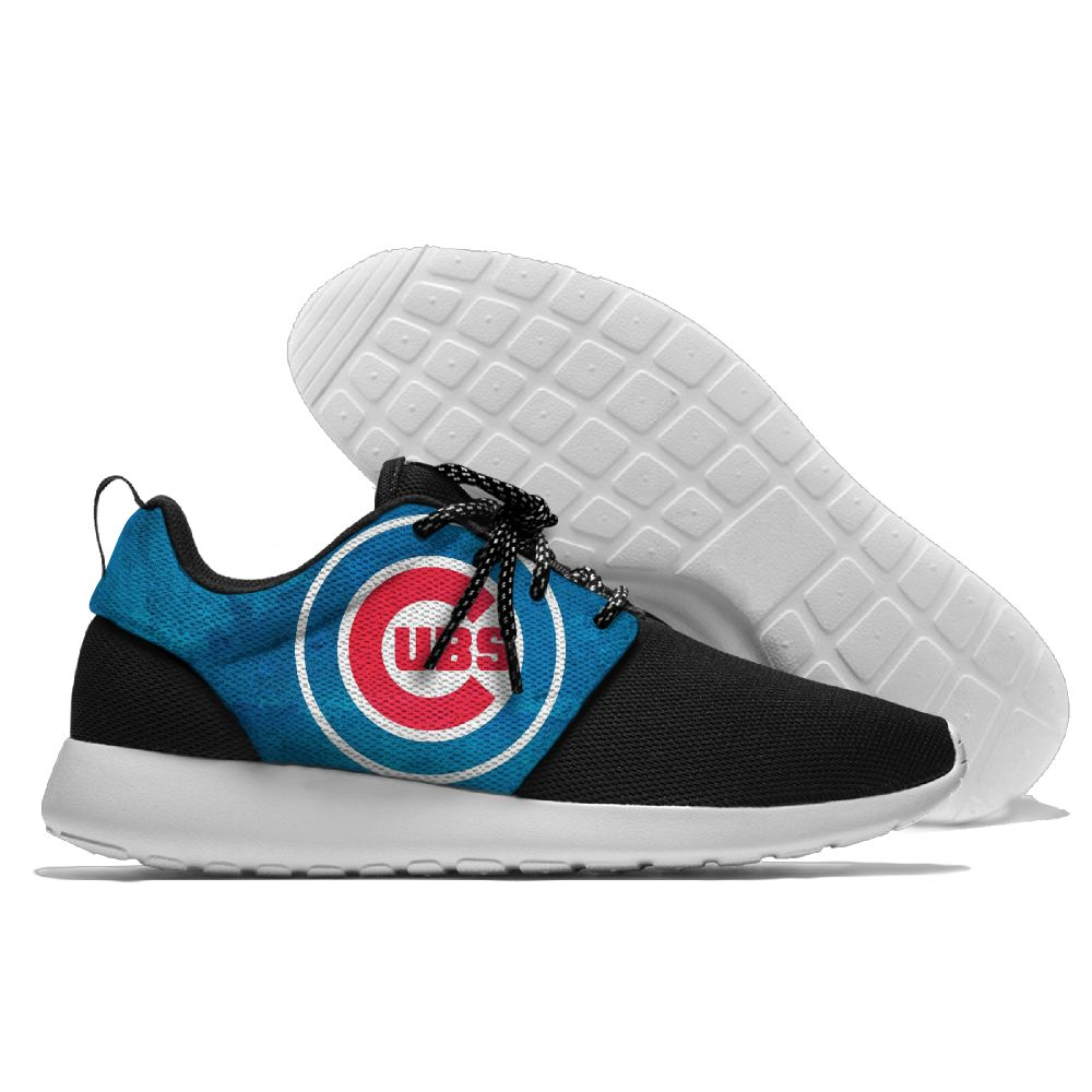 Women's Chicago Cubs Roshe Style Lightweight Running MLB Shoes 005
