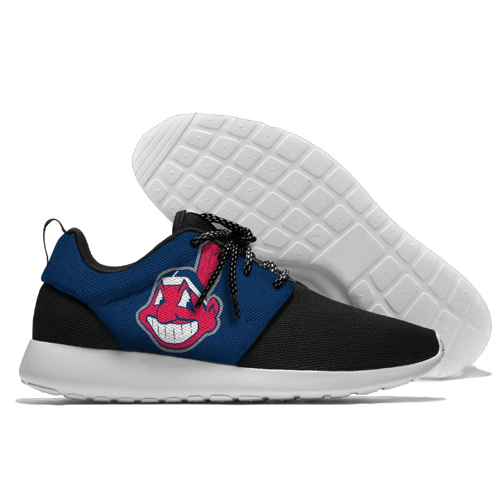 Women's Cleveland Indians Roshe Style Lightweight Running MLB Shoes 005
