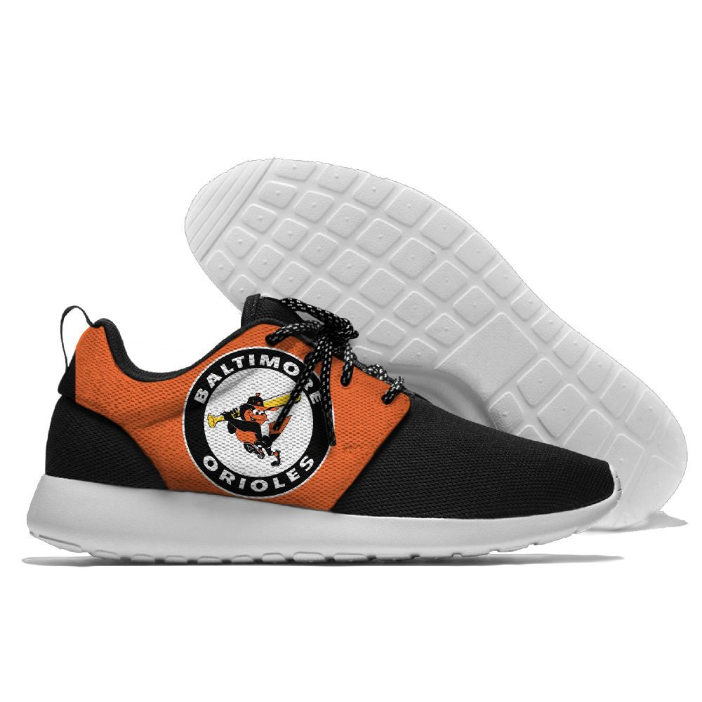 Women's Baltimore Orioles Roshe Style Lightweight Running MLB Shoes 005