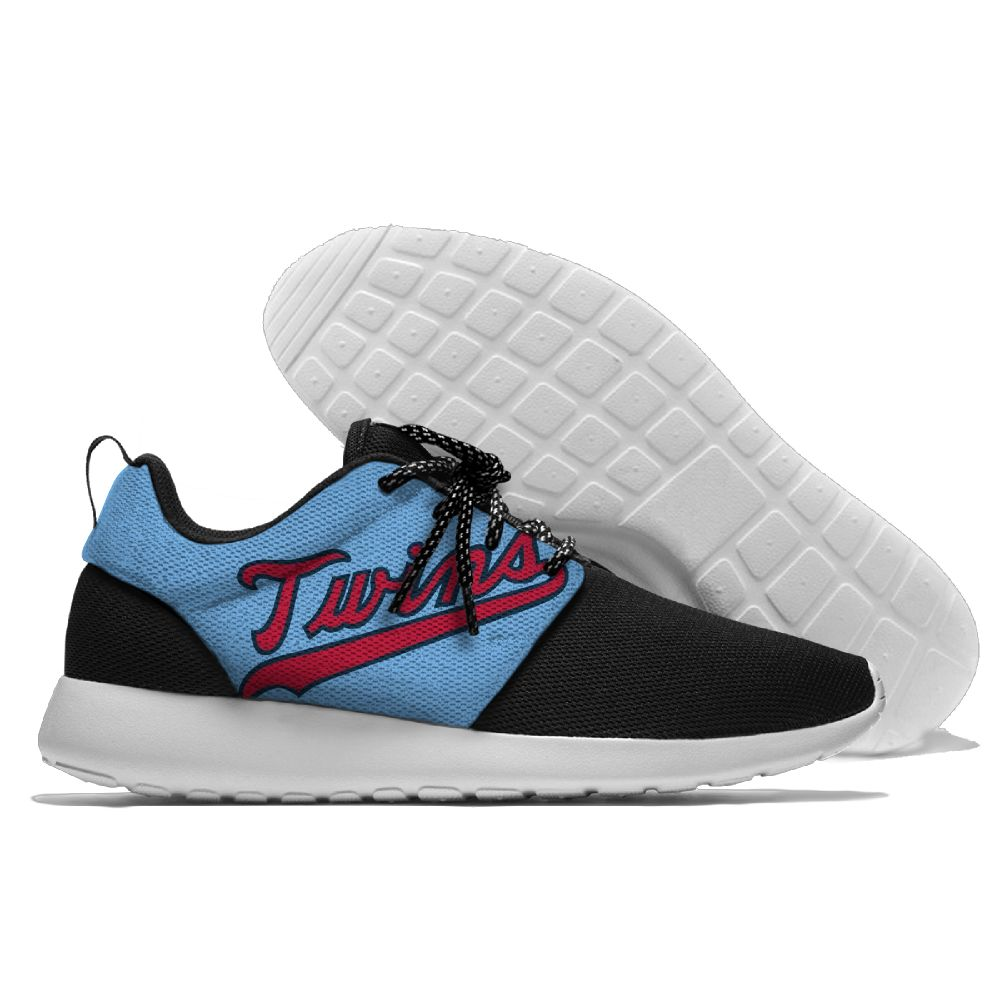 Men's Minnesota Twins Roshe Style Lightweight Running MLB Shoes 005