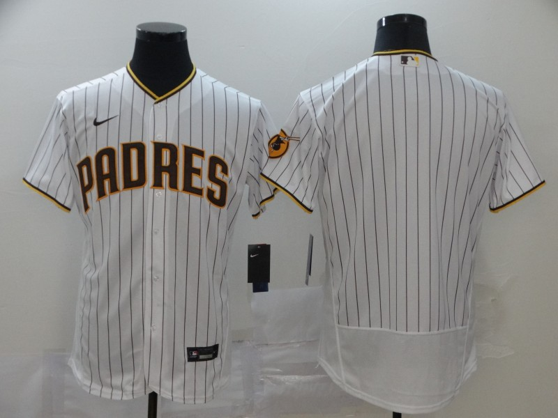 Men's San Diego Padres Blank White Flex Base Stitched MLB Jersey