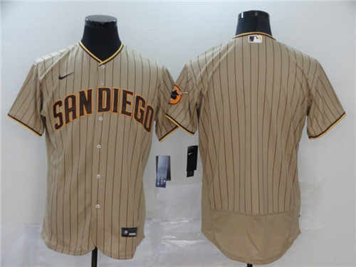 Men's San Diego Padres Blank Tan Brown Flex Base Stitched MLB Jersey