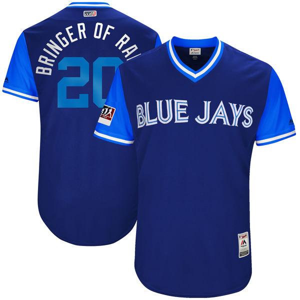 "Men's Toronto Blue Jays Josh Donaldson ""Bringer of Rain"" Majestic Light Blue/Royal 2017 Little League World Series Players Weekend Classic Jersey"