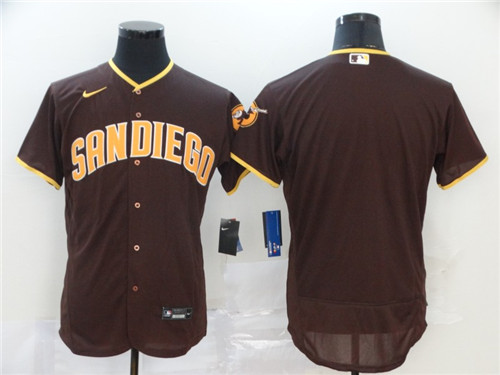 Men's San Diego Padres Blank Coffee Flex Base Stitched MLB Jersey