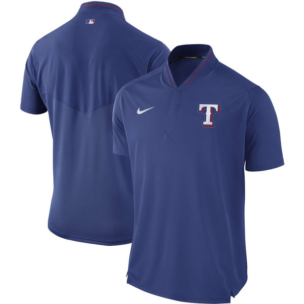 Men's Texas Rangers Royal Authentic Collection Elite Performance Polo