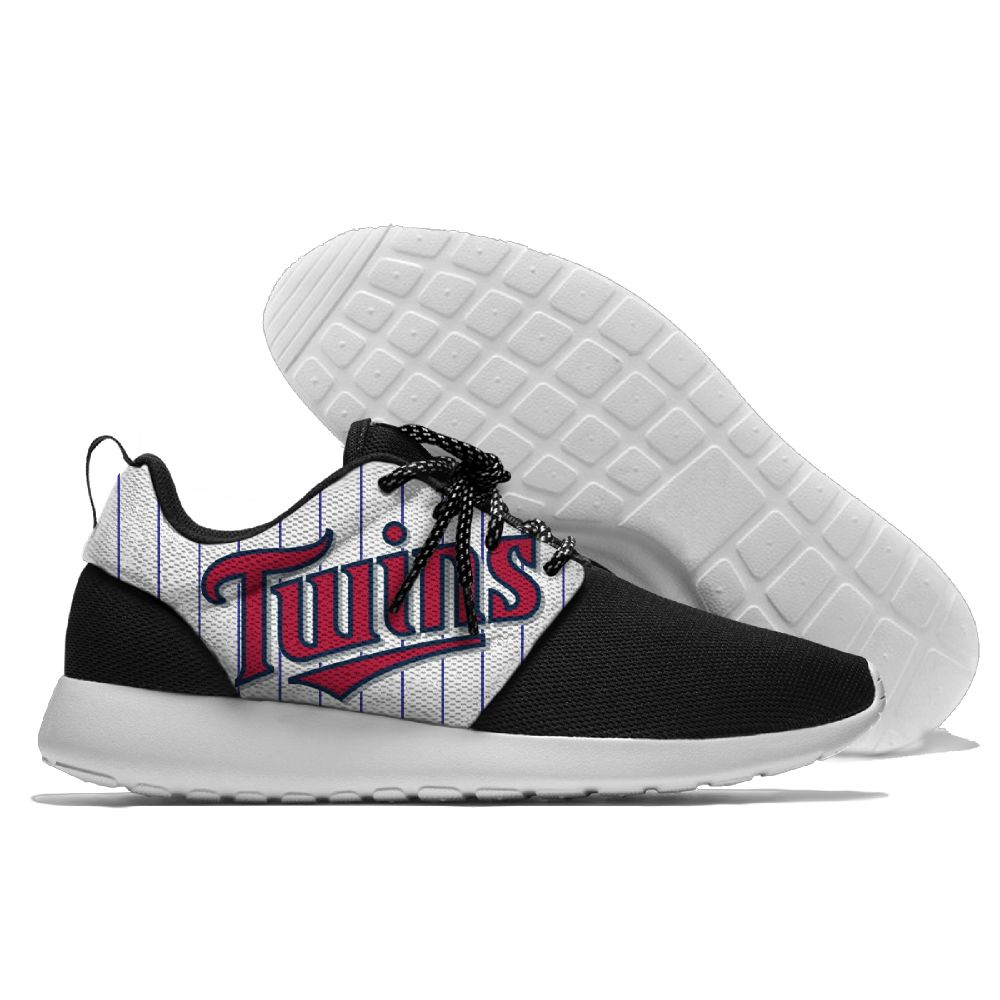 Women's Minnesota Twins Roshe Style Lightweight Running MLB Shoes 006