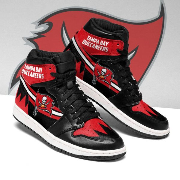 Women's Tampa Bay Buccaneers AJ High Top Leather Sneakers 003