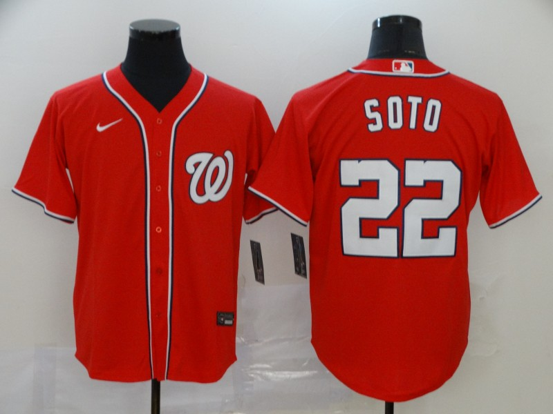 Men's Washington Nationals #22 Juan Soto Majestic Red Cool Base Stitched MLB Jersey