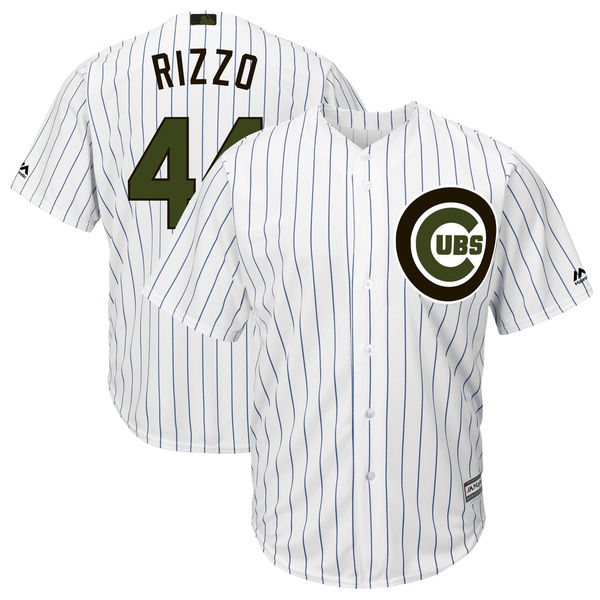 Men's Chicago Cubs #44 Anthony Rizzo White 2018 Memorial Day Cool Base Stitched MLB Jersey
