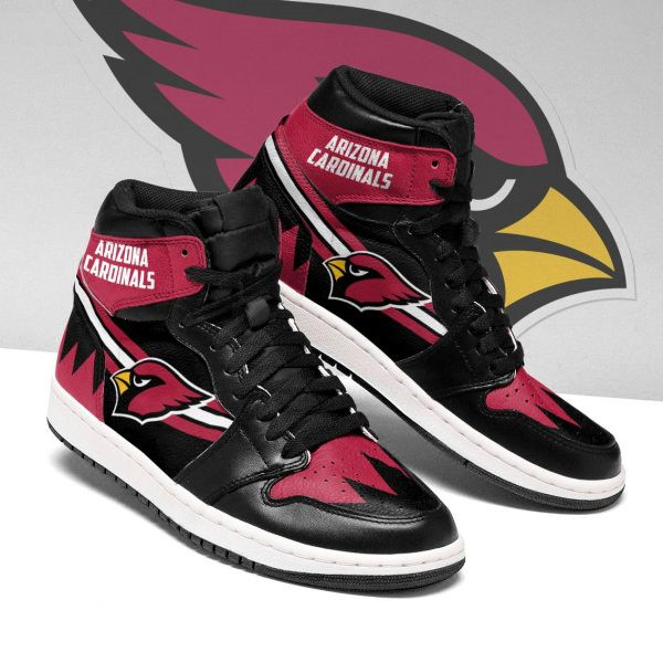 Women's Arizona Cardinals AJ High Top Leather Sneakers 004