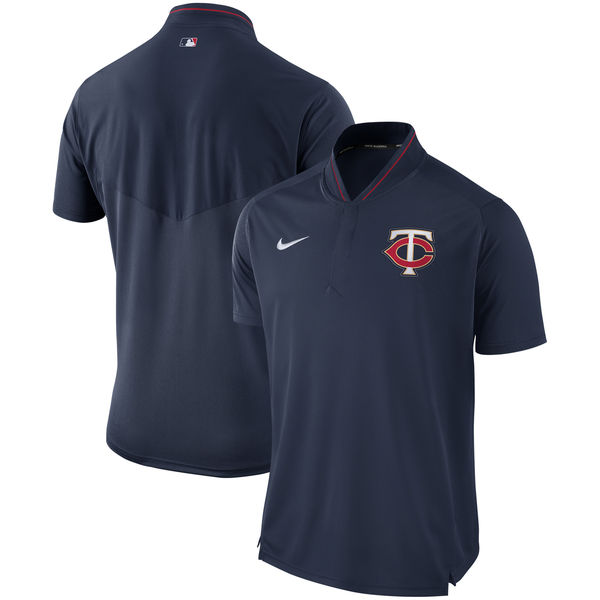 Men's Minnesota Twins Navy Authentic Collection Elite Performance Polo