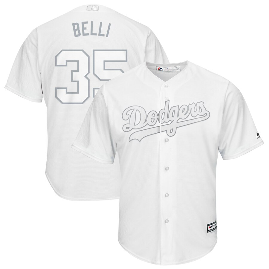 Men's Los Angeles Dodgers #35 Cody Bellinger Majestic White 2019 Players' Weekend Player Stitched MLB Jersey