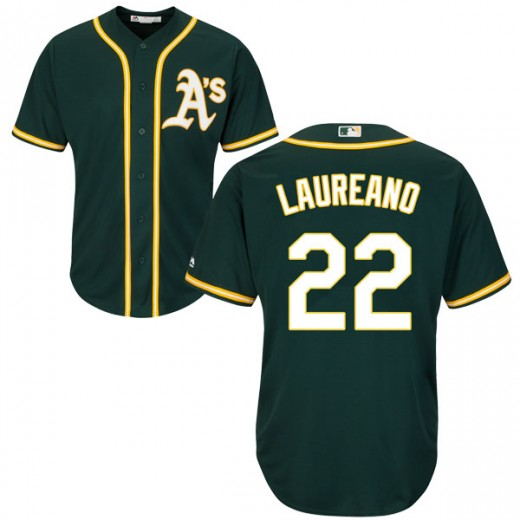 Men's Oakland Athletics #22 Ramón Laureano Green Stitched MLB Jersey
