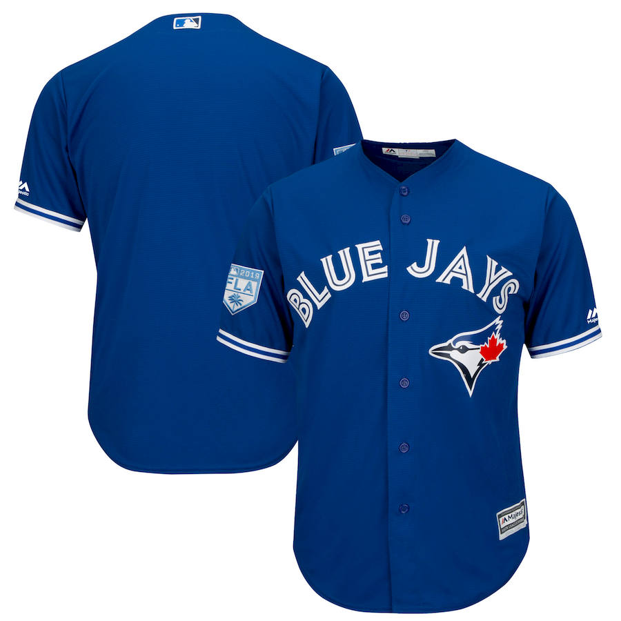 Men's Toronto Blue Jays #14 Justin Smoak Majestic Royal 2019 Spring Training Cool Base Stitched MLB Jersey