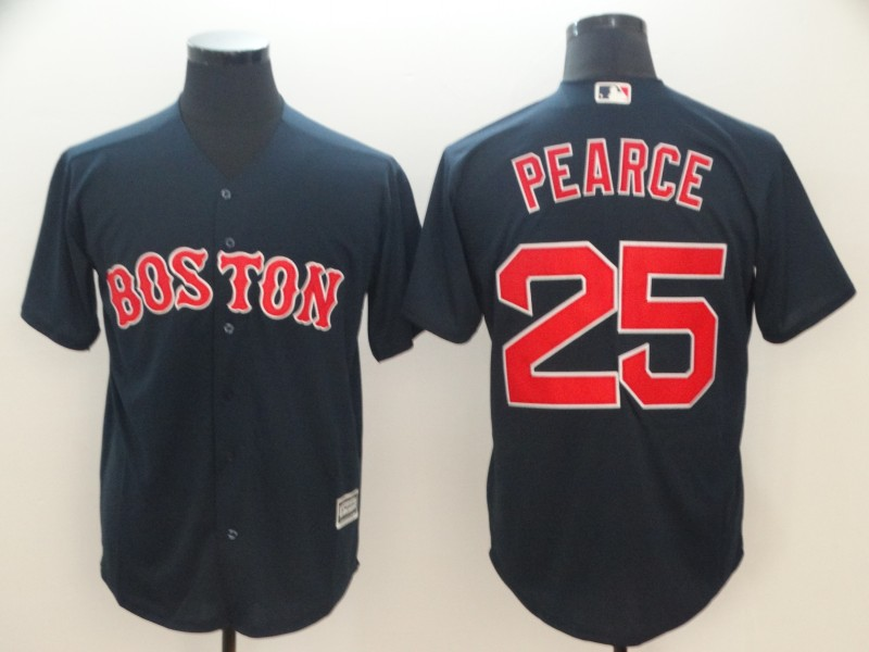 Men's Boston Red Sox #25 Steve Pearce Majestic Navy Cool Base Player Stitched MLB Jersey