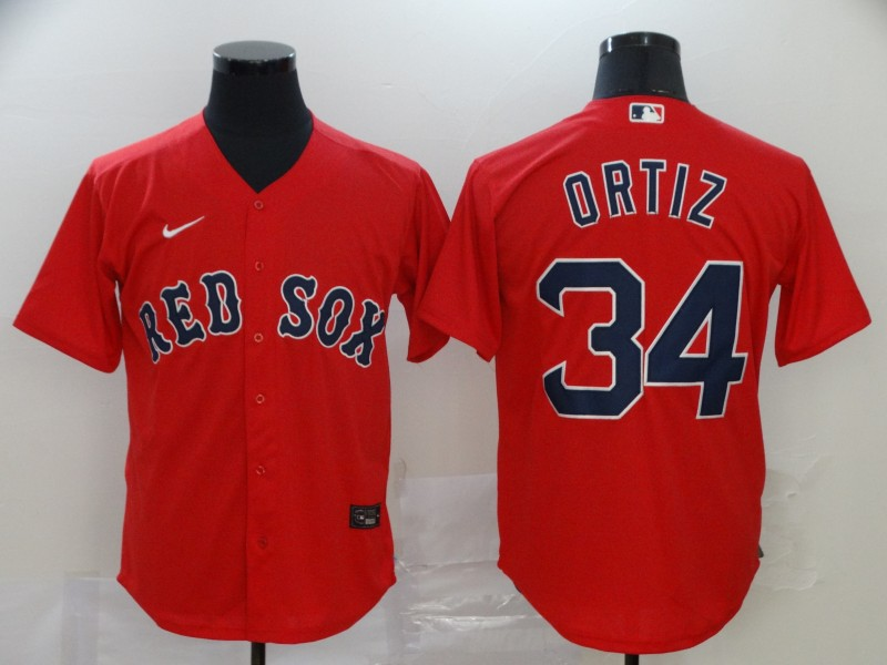 Men's Boston Red Sox #34 David Ortiz Red Cool Base Stitched MLB Jersey