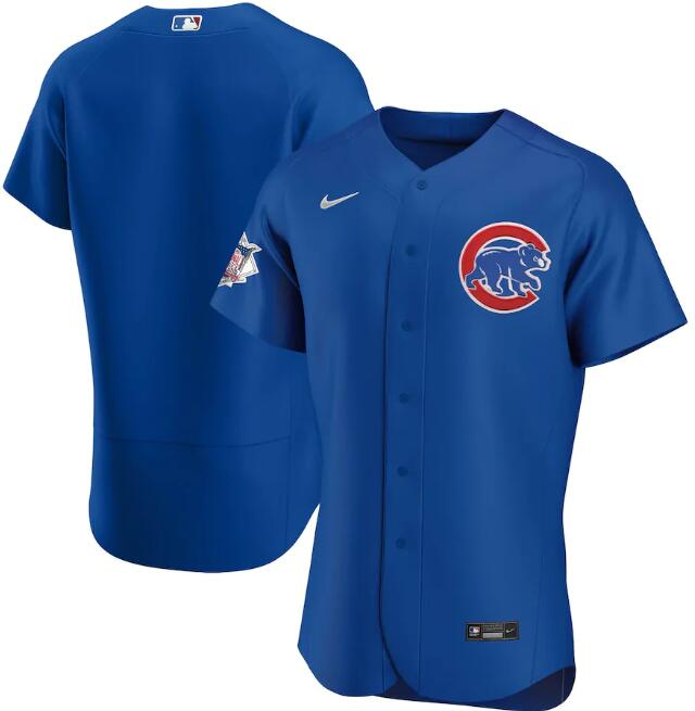 Men's Chicago Cubs Blue Flex Base Stitched MLB Jersey