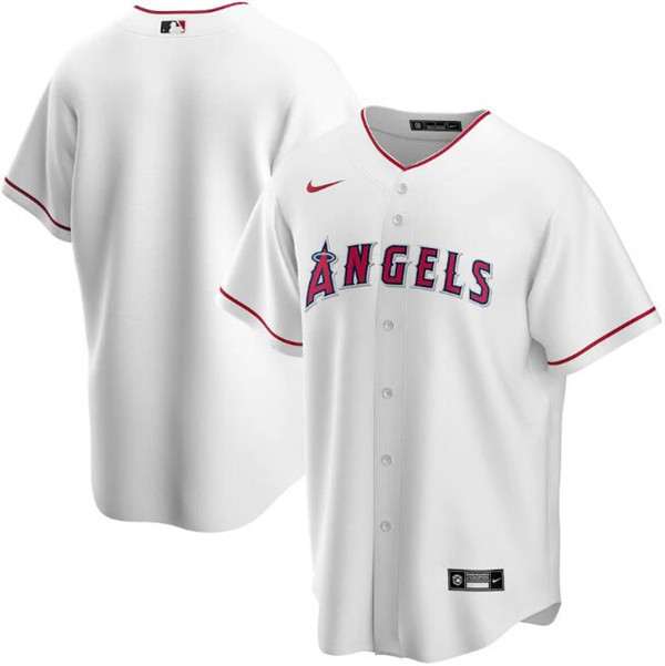 Men's Los Angeles Angels White Cool Base Stitched MLB Jersey
