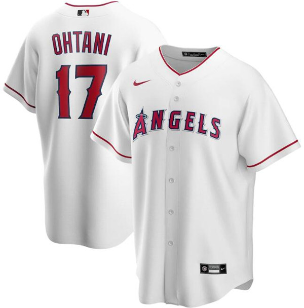 Men's Los Angeles Angels White #17 Shohei Ohtani Cool Base Stitched MLB Jersey