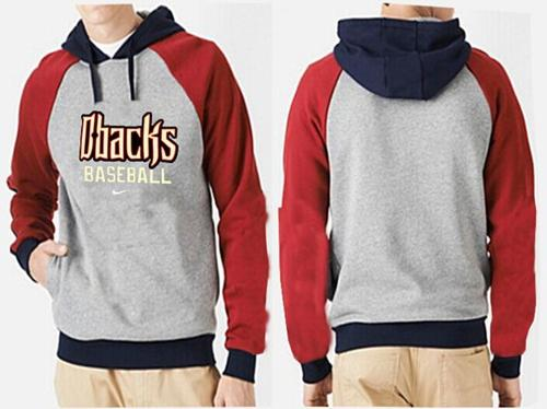 Arizona Diamondbacks Pullover Hoodie Grey & Red