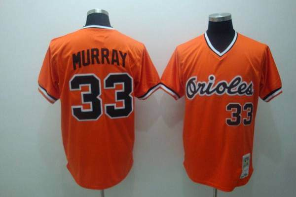Mitchell and Ness Orioles #33 Eddie Murray Stitched Orange Throwback MLB Jersey