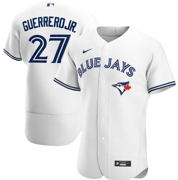 Men's Toronto Blue Jays White #27 Vladimir Guerrero Jr. Flex Base Stitched MLB Jersey