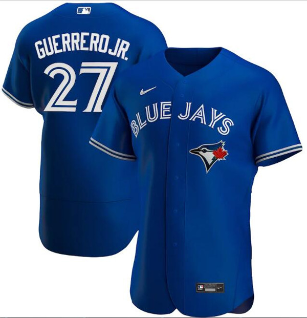 Men's Toronto Blue Jays Blue #27 Vladimir Guerrero Jr. Flex Base Stitched MLB Jersey