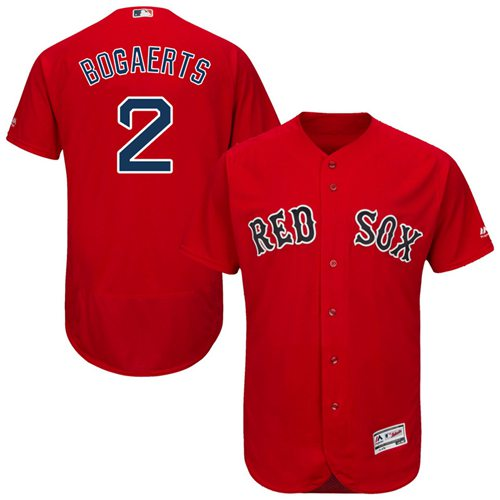 Red Sox #2 Xander Bogaerts Red Flexbase Authentic Collection Stitched MLB Jersey