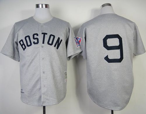 Mitchell And Ness 1939 Red Sox #9 Ted Williams Grey Throwback Stitched MLB Jersey