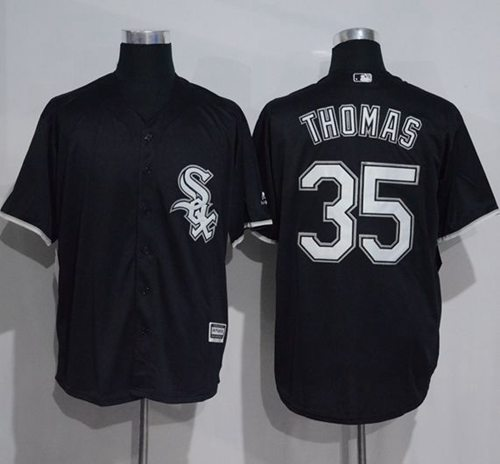White Sox #35 Frank Thomas Black New Cool Base Stitched MLB Jersey