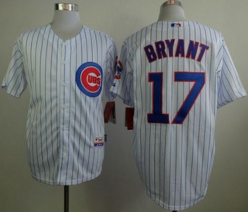 Cubs #17 Kris Bryant White Home Cool Base Stitched MLB Jersey