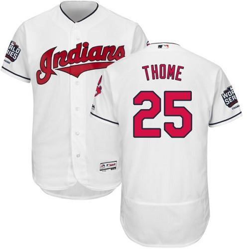 Indians #25 Jim Thome White Flexbase Authentic Collection 2016 World Series Bound Stitched MLB Jersey