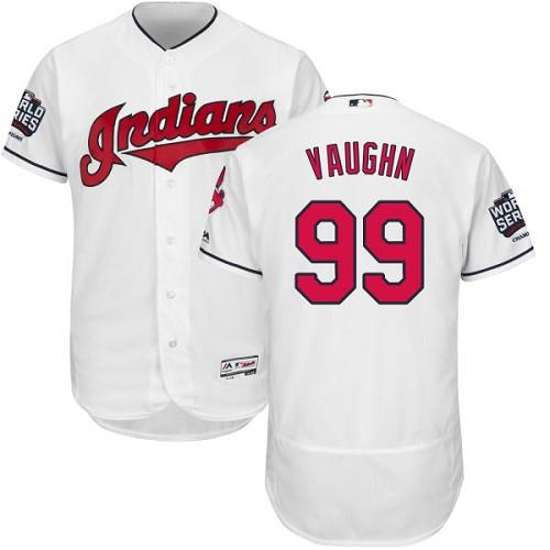 Indians #99 Ricky Vaughn White Flexbase Authentic Collection 2016 World Series Bound Stitched MLB Jersey